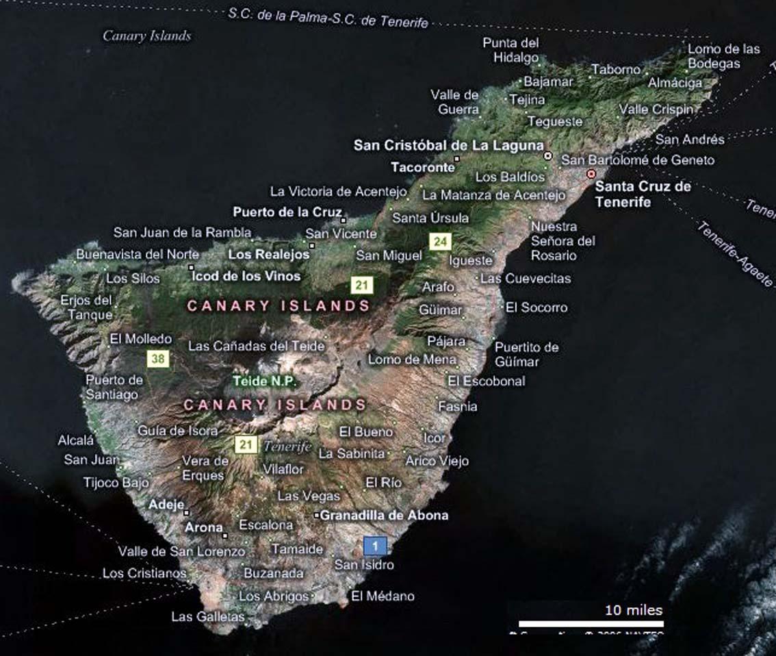 Tenerife Cartina Stradale.Tenerife